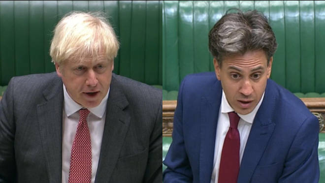 Ed Miliband gave an impassioned response to Boris Johnson's opening statement