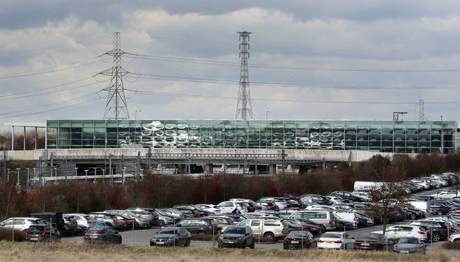 One of Ebbsfleet International's car parks was used as a testing site