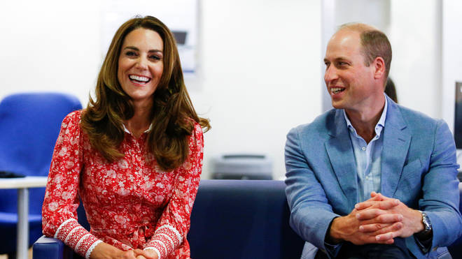 The Duke and Duchess of Cambridge speaking to employers during a visit to the London Bridge Jobcentre