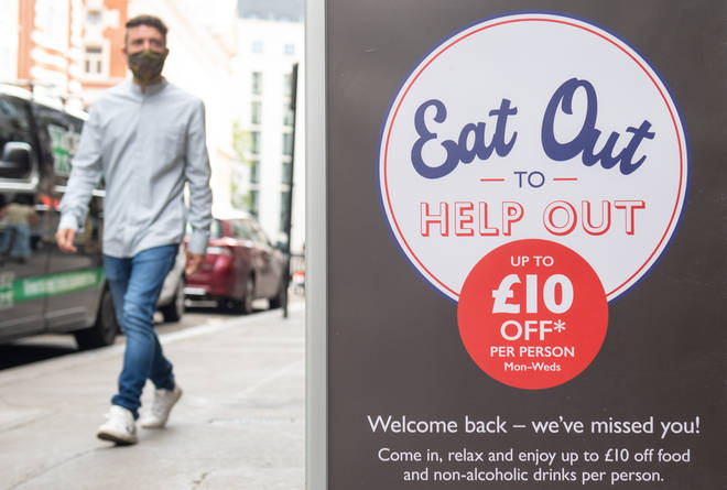 The ONS put the drop in inflation partially down to August's Eat Out to Help Out scheme