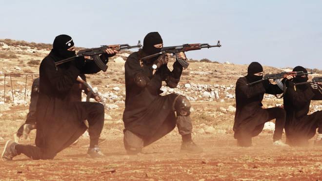 A still from an ISIS propaganda video