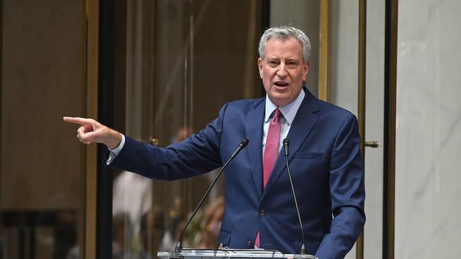 Mayor of New York City Bill de Blasio has agreed to furlough himself to help save money