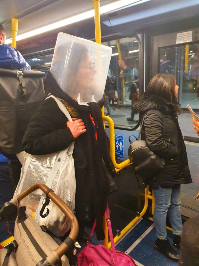 Previously other alternatives to face masks have been seen on public transport