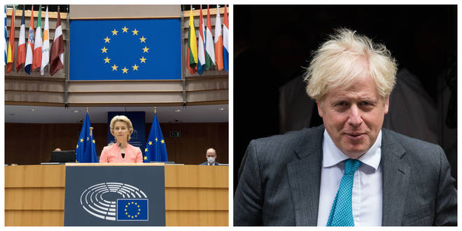 European Commission President Ursula von der Leyen and PM Boris Johnson