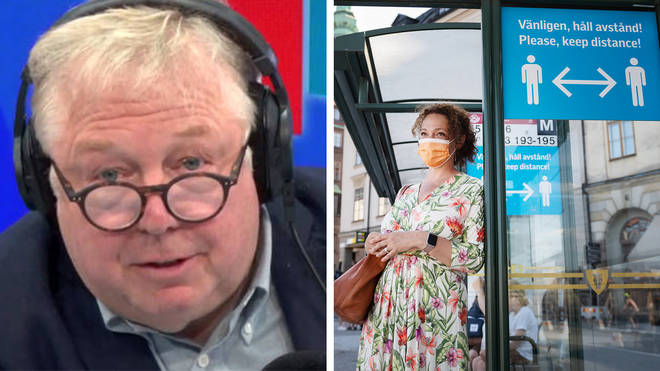 "Nick Ferrari says in Sweden the government advocated what they called  a ""common sense code."""