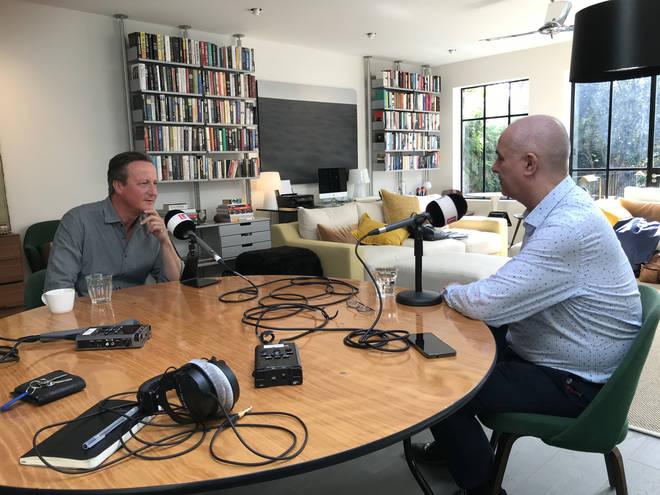 Former Prime Minister David Cameron spoke to LBC's Iain Dale