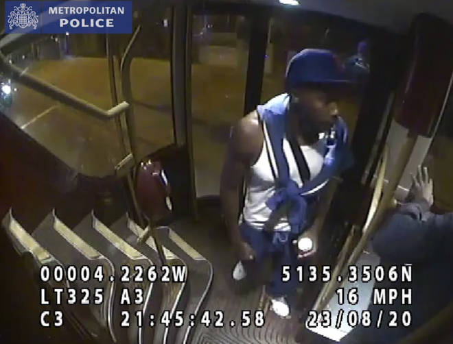 Police want to trace this man after the attack on a 149 bus in London