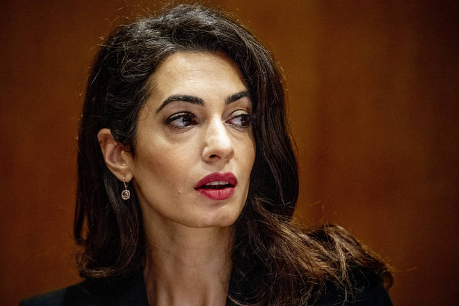 File photo: Amal Clooney during the meeting on ISIS at the United Nations headquarters in New York City