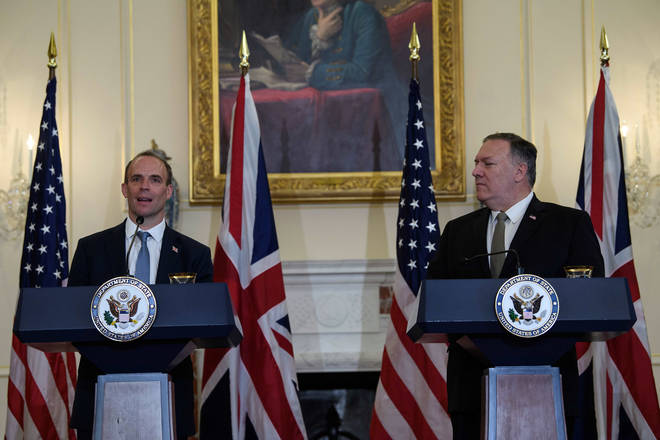 Dominic Raab met with Mike Pompeo