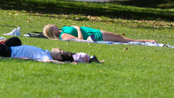 Brits have been told to be sensible in the hot weather