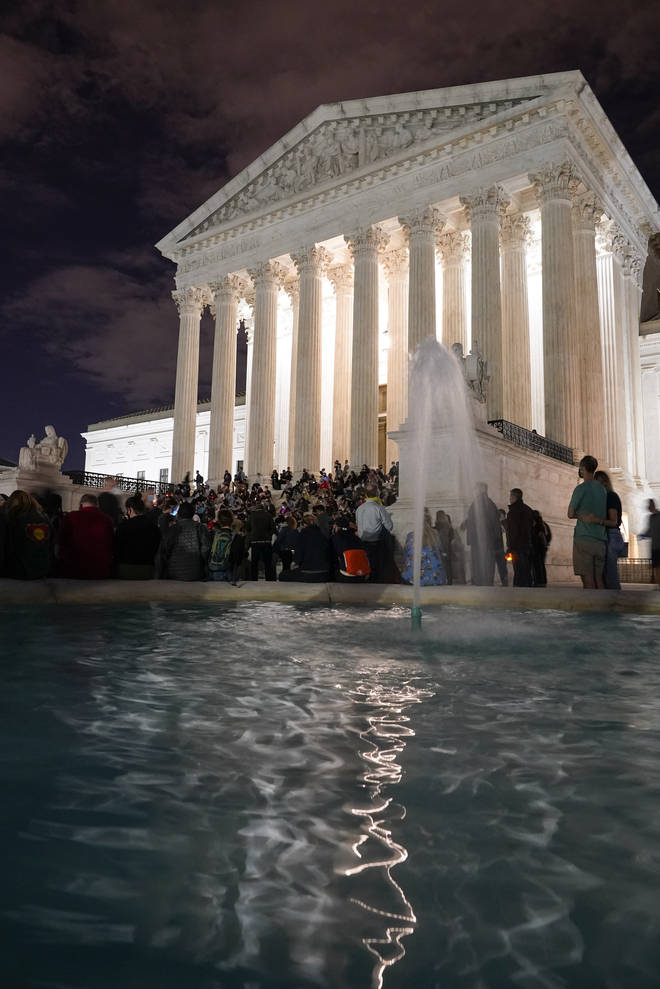 People outside the Supreme Court (Alex Brandon/AP)