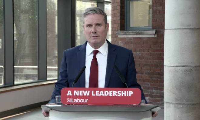 Keir Starmer has said a second national lockdown would be a sign of government failure
