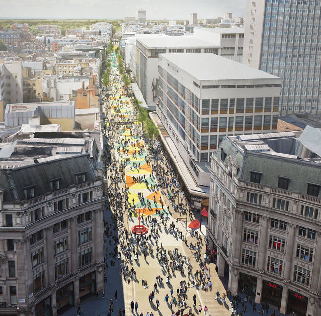 How Oxford Street would look pedestrianised