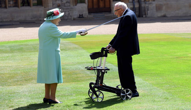 Sir Tom Moore was knighted after raising millions for the NHS