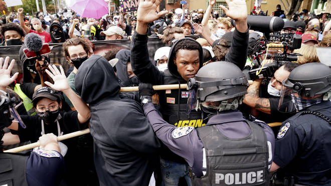 Protests broke out in cities across the US