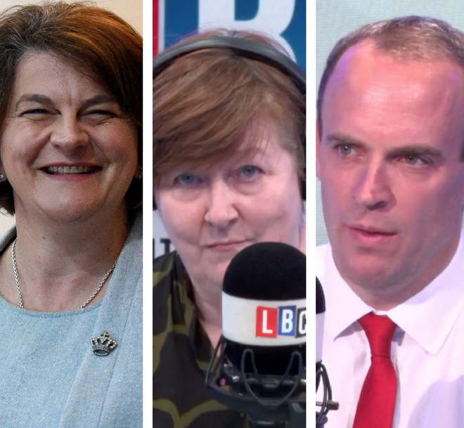 Dominic Raab was quizzed over the DUP and the Irish border