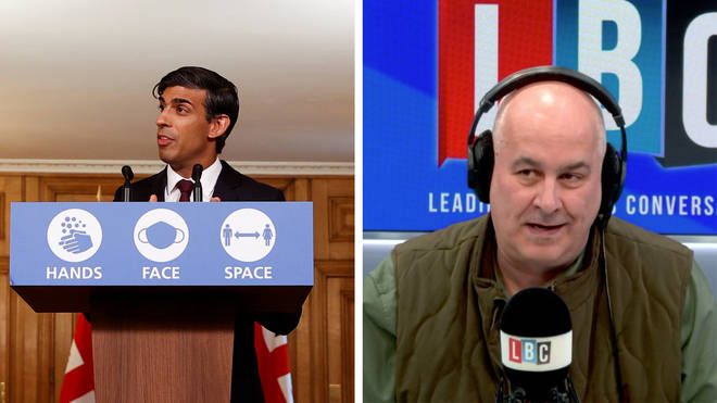 """Caller tells Iain Dale: """"I&squot;ve built a business over a decade and Rishi Sunak has decided I&squot;m not viable"""""""