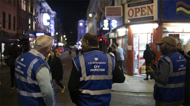 A team of inspectors on patrol in central London