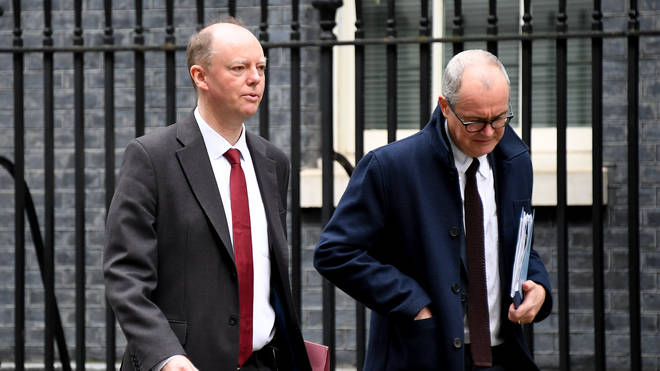 Chief scientific advisors include Professor Chris Whitty and Sir Patrick Vallance