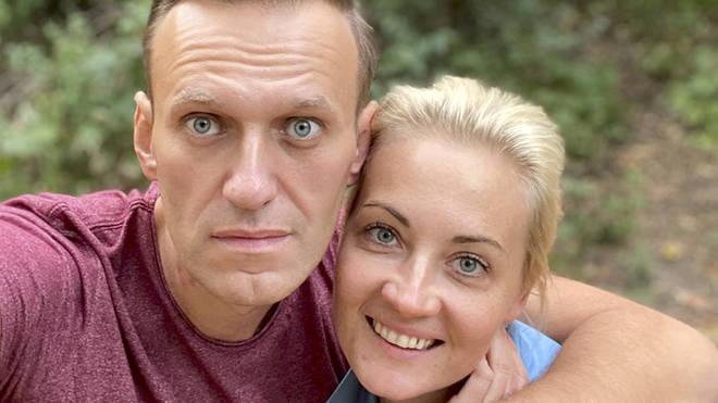 Alexei Navalny and his wife Yulia