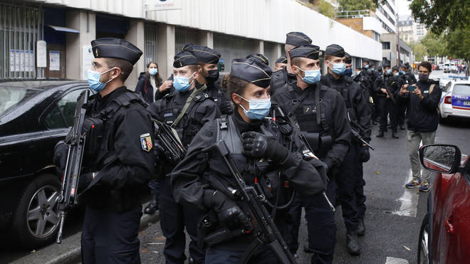 French police officers on patrol
