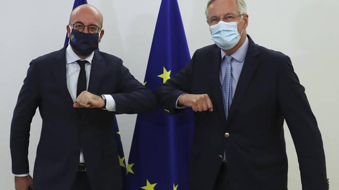 Charles Michel and Michel Barnier