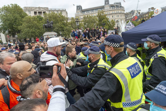 Anti-lockdown protesters took to the streets on Saturday