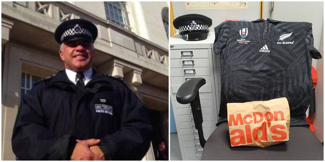 Sergeant Matt Ratana was bought one final McDonald's breakfast by his devastated colleagues