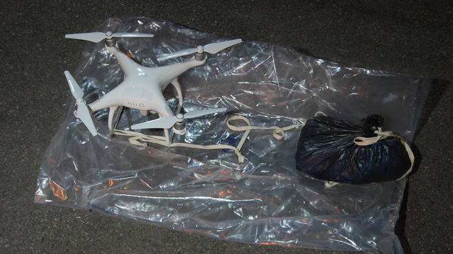 The drone and bag used by Charles Adifiyi