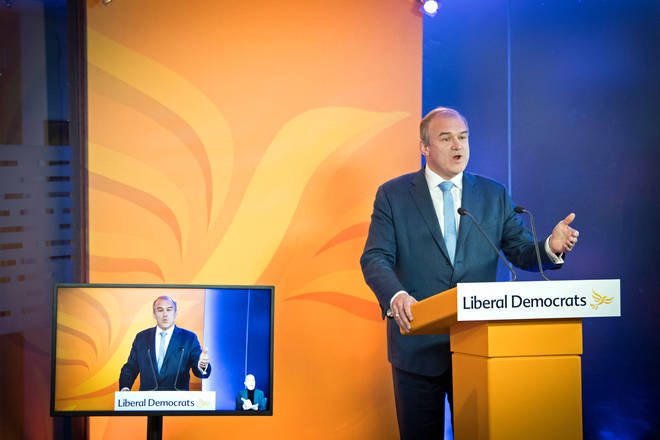 Lib Dem leader Sir Ed Davey gave his first conference speech as leader