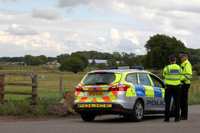 Police made arrests at the farm wedding