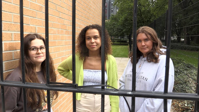 "Students have been left ""trapped"" in halls of residence while self-isolating"