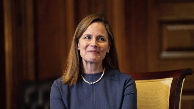 Judge Amy Coney Barrett, President Donald Trump's nominee for the US Supreme Court