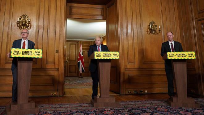 Boris Johnson, Professor Chris Whitty and Sir Patrick Vallance will speak later