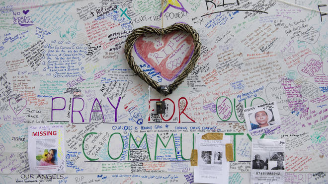Grenfell Tower memorial wall