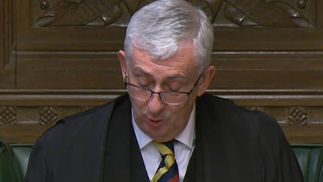 Sir Lindsay Hoyle said there would be no amendments to the vote later