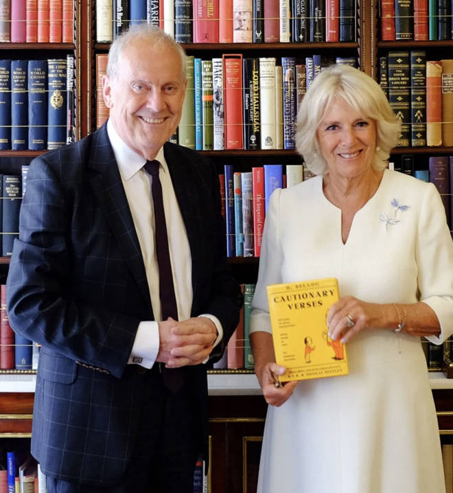 The Duchess of Cornwall joined Gyles Brandreth in Poetry Together to commemorate National Poetry Day