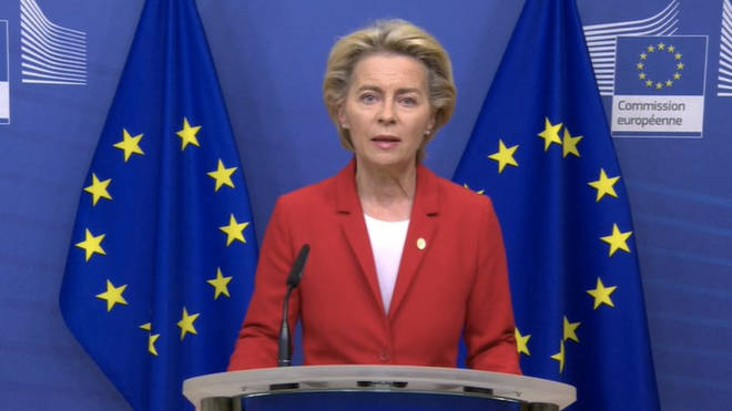 Ursula von der Leyen delivered a statement this morning