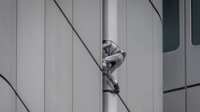 French urban climber Alain Robert