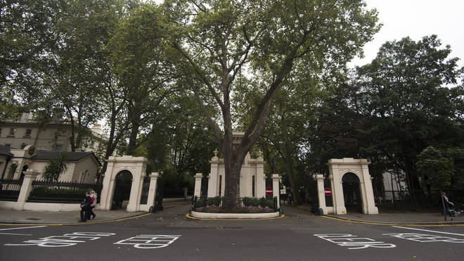 Kensington Palace Gardens in London