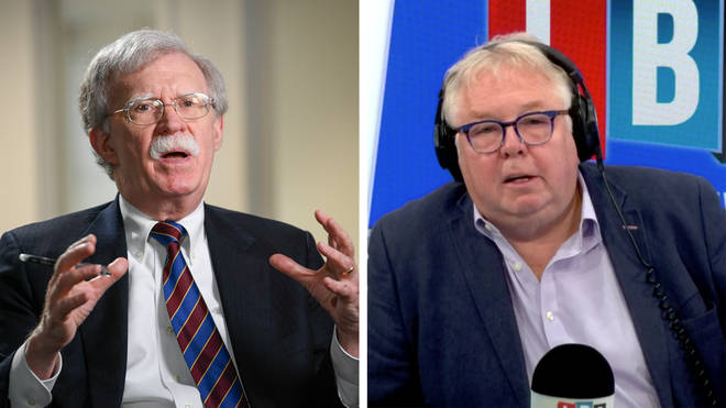 """It would cause """"irreparable damage"""" if Trump won a second presidential term, Mr Bolton told Nick"""
