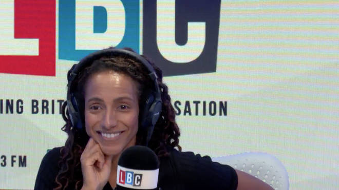 Fellow panellist Afua Hirsch appeared to find the debate funny