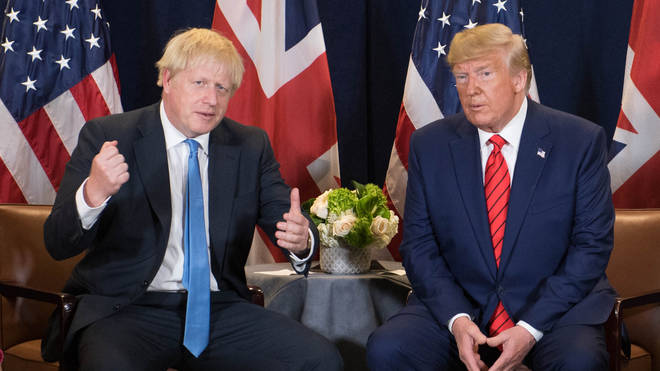 "Boris Johnson has given his ""best wishes"" to Donald Trump following his coronavirus diagnosis"