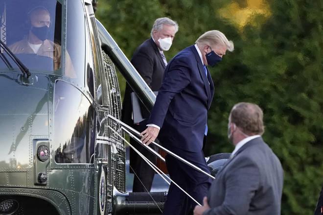 Trump seen arriving at hospital