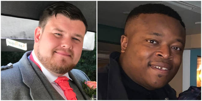William Henry (R), 31, and 29-year-old Brian McIntosh (L) were discovered on Wednesday.