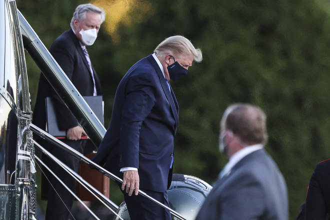 Donald Trump was flown to hospital on Friday