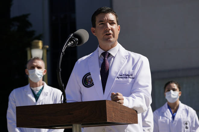 Trump's physician Dr Sean Conley gave an update
