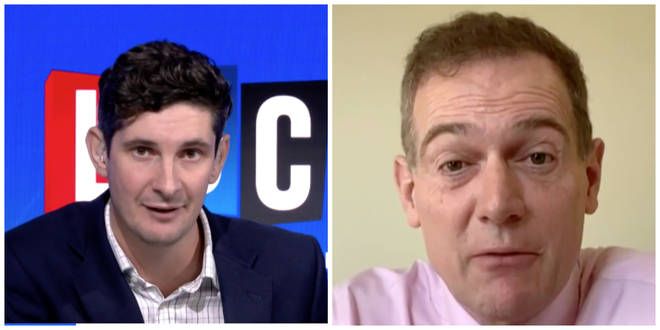 Tom Swarbrick and Middlesbrough Mayor Andy Preston speak on LBC