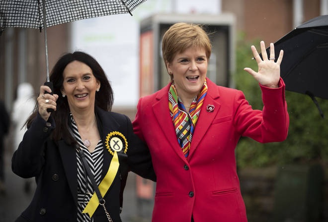 Margaret Ferrier (L) has been condemned by First Minister Nicola Sturgeon