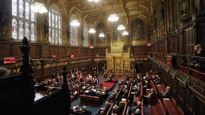 The government's immigration bill to end freedom of movement has been defeated in the Lords (File photo from January)